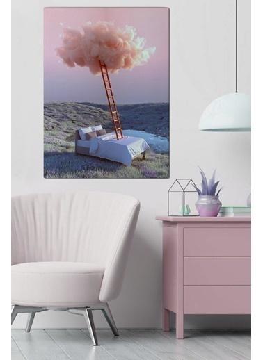 MarkaEv Canvas Soyut Bulut Tablo 0066 Renkli
